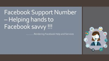 Contact Facebook Customer Service - Offer Available !