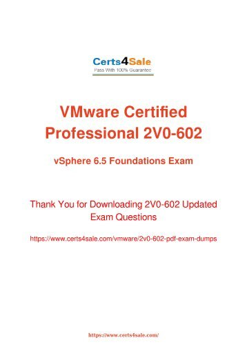 [2017] 2V0-602 Exam Material - VMware 2V0-602 Dumps