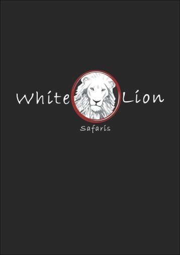 White Lion Safaris Brochure 2018 new map curves