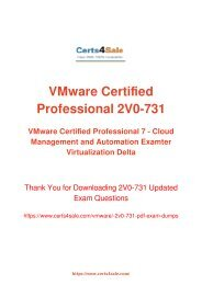 [2017] 2V0-731 Exam Material - VMware 2V0-731 Dumps