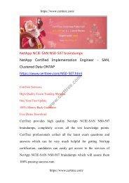 NetApp NCIE-SAN NS0-507 braindumps