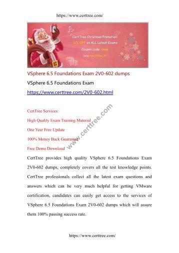 VSphere 6.5 Foundations Exam 2V0-602 dumps