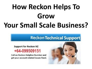 How Reckon Helps To Grow Your Small Scale Business?