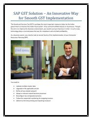 SAP GST Solution – An Innovative Way for Smooth GST Implementation