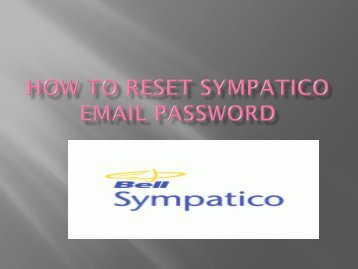 sympatico email password reset