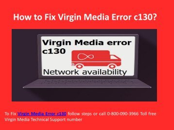 Fix Virgin Media Error c130 Call 0-800-090-3966 Support Number