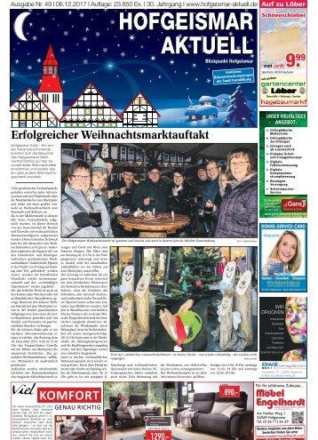 Hofgeismar Aktuell 2017 KW 49