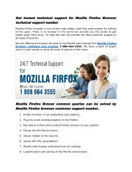 Get instant technical support for Mozilla Firefox Browser technical support number 1-888-664-3555