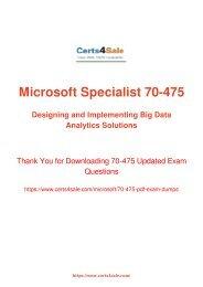 [2017] 70-475 Exam Material - Microsoft 70-475 Dumps
