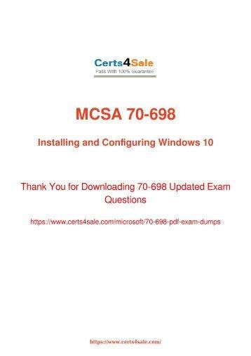 [2017] 70-698 Exam Material - Microsoft 70-698 Dumps