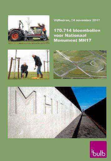 170714 bloembollen voor Nationaal Monument MH17