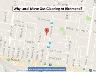 Why Local Move Out Cleaning At Richmond?