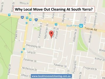 Why Local Move Out Cleaning At South Yarra