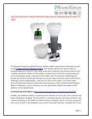 Global Cylindrical Dental Implant Market Research Report 2017
