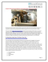 Global Engine Valve Springs Market Research Report 2017