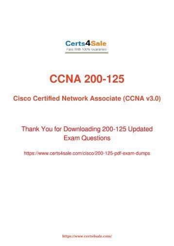[2017] 200-125 Exam Material - Cisco 200-125 Dumps
