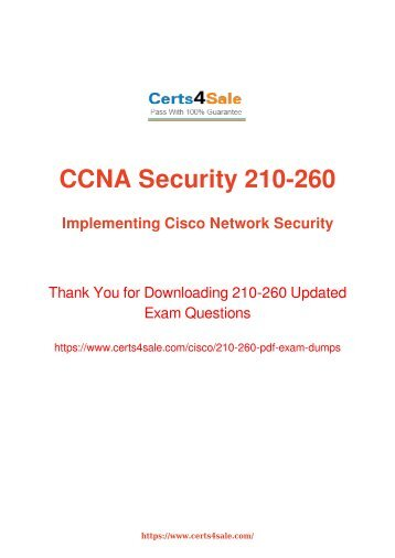 [2017] 210-260 Exam Material - Cisco 210-260 Dumps