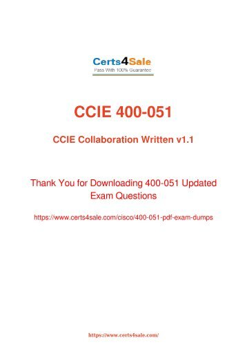 [2017] 400-051 Exam Material - Cisco 400-051 Dumps