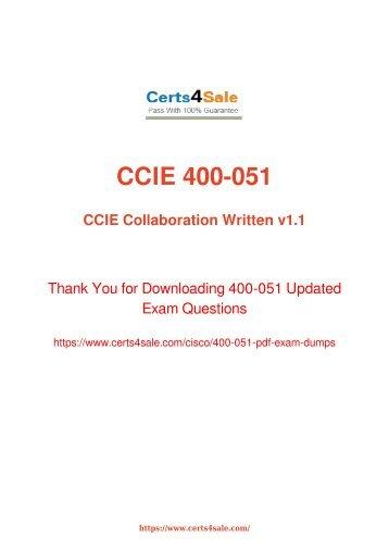 [2017] 400-051 Exam Material - Cisco 400-051 Dumps
