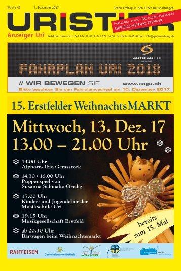 49.2017 Uristier  Der Urner Gratisanzeiger