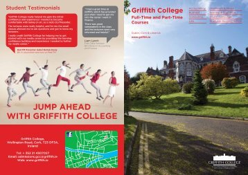 Griffith College Cork A4 Brochure 2017