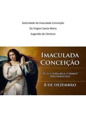 Solenidade da Imaculada Conceicao da Virgem Santa Maria