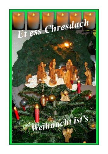 Weihnacht ist's im Siegerland