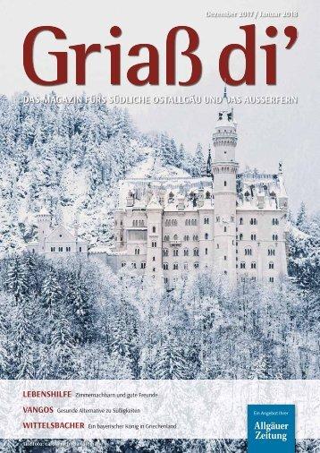 Griaß di' Magazin Dezember 2017 / Januar 2018
