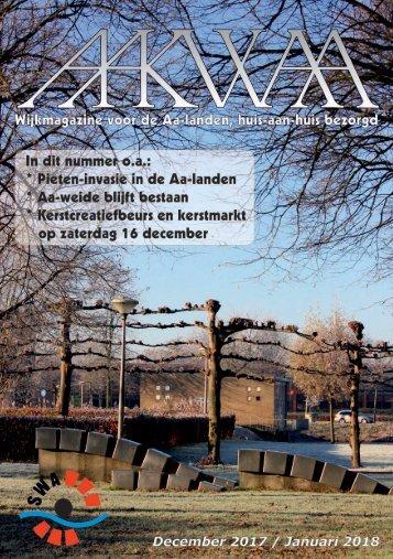 Wijkblad Aakwaa december 2017 / januari 2018