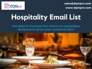 Hospitality Email List | Hospitality Mailing Database