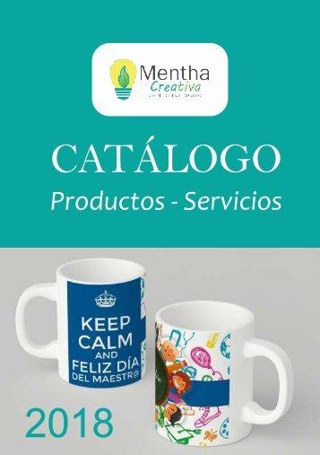 CATALOGO MENTHA TAZAS LLAVEROS web