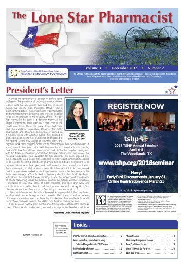 The Lone Star Pharmacist - December 2017