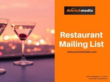 Restaurant Mailing List