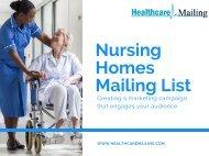 Nursing Homes Mailing List
