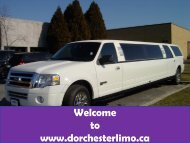 Limo Service in Kitchener at Dorchester Limo