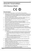 Sony VPCEB4F4E - VPCEB4F4E Documents de garantie Turc - Page 6
