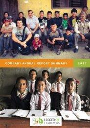 Annual Report Summary 2017