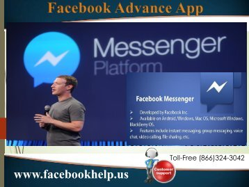 Contact to Facebook Phone Number (866)324-3042 for facebook Messenger