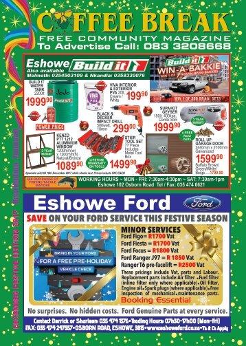 Coffeebreak magazine December 2017 Eshowe, Zululand, South Africa