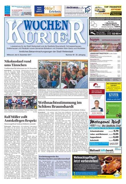 Wochen-Kurier 49/2017 - Lokalzeitung für Weiterstadt und Büttelborn
