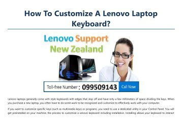 How To Customize A Lenovo Laptop Keyboard?