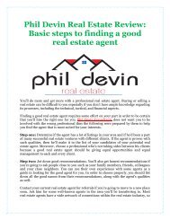 Phil Devin Real Estate Review: Basic steps to finding a good real estate agent
