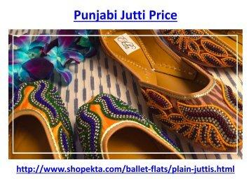 Punjabi Jutti Price