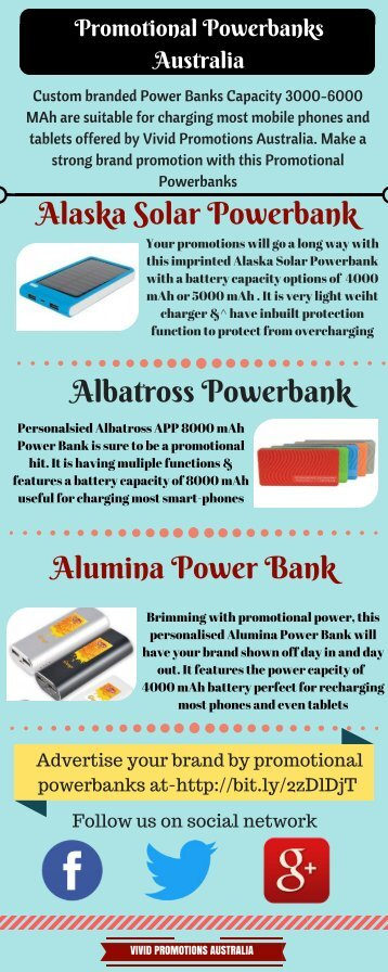 Custom Branded Powerbanks | Vivid Promotions | Powerbanks
