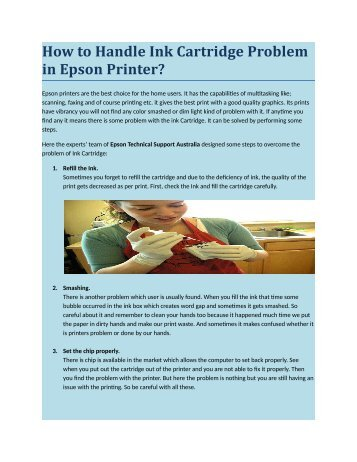 how to get ink cartridge out of epson printer