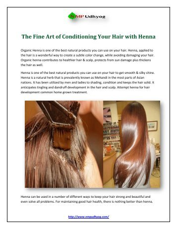 The Fine Art of Conditioning Your Hair with Henna