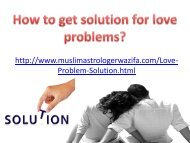 How to get solution for love problems