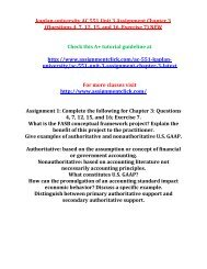 KAPLAN UNIVERSITY AC 551 Unit 3 Assignment Chapter 3 (Questions 4, 7, 12, 15, and 16, Exercise 7) NEW