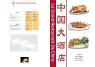 CARTE MENU Le Grand Restaurant de Chine (2)