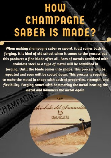 HOW CHAMPAGNE SABER IS MADE_